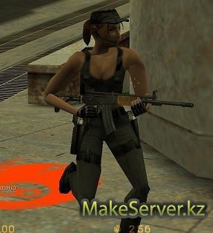 По дефолту при установке Steam и CS 1.6 будут модели игроков из CZ