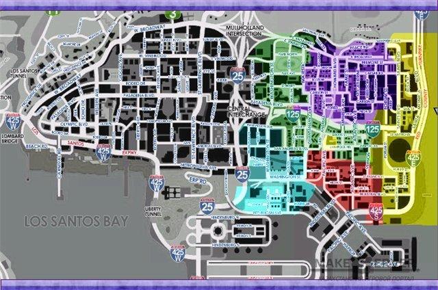 Карты для самп с названиями улиц