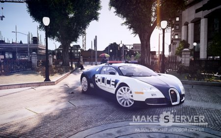 Bugatti Veyron 16.4 Police NFS Hot Pursuit [ELS+EPM] v1.3