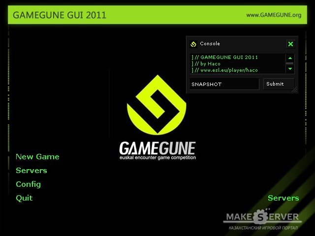 GameGune CS gui