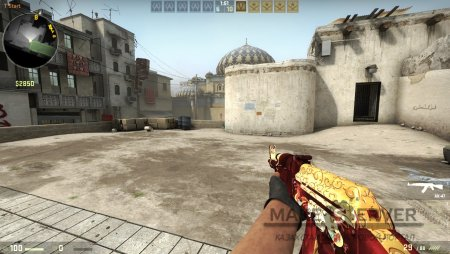 AK47 Red-Gold Dragon для CS:GO
