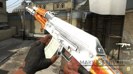 Simple Chrome Ak47 для CS:GO