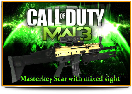 COD8 MW3 Masterkey Scar With Mixed Sight