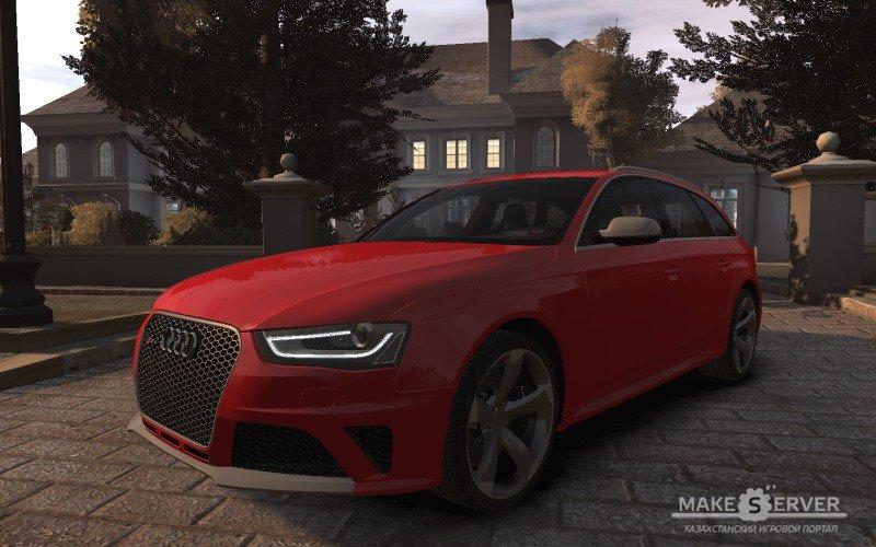 2013 Audi RS4 Avant для GTA 4. Автор оригинальной 3D модели: Forza Автор ко