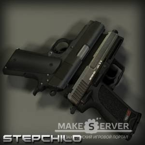 Colt Compact and USP on RAM anims Convert by G@L