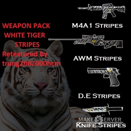 [Weapon Pack] White Tiger Stripes Pack