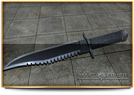 Rambo Knife With Mr.John Anims