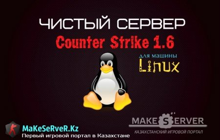 Чистый сервер Counter-Stirke 1.6 для LInux